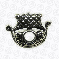 Atlantic Voyages Charm Design Viking Ship Sea Stallion Ship Charm in Silver