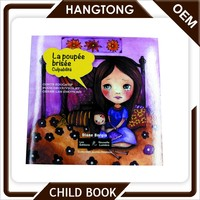 Saddle stitch English cartoon story books printing for children