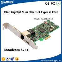 Broadcom gigabit Ethernet 10/100/1000M BCM 5751 pci-e network card with low profile