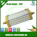CHINA supply high power IP43 10w 1000lm 42pcs SMD2835 slim r7s led