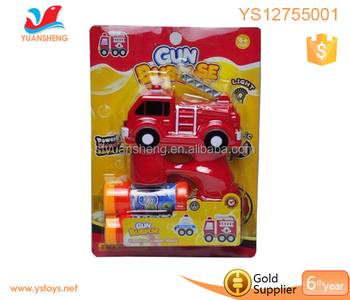 Wholesale car design bubble gun with light led flash function present 2 water bubble blowe bubble gun toys