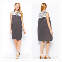 Factory Direct Selling Sleeveless fashion korean style maternity dress