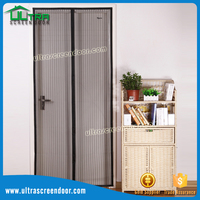 Anti Mosquito Soft Magnetic Closure Screen Door Window Folding To Store