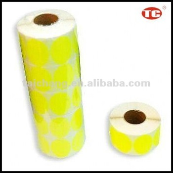 Fluorescent Self-adhesive Label Rolls/price label roll
