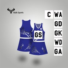 Nice Women Sportswear Sublimation custom team lycra netball dresses