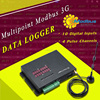3G Mobile Modbus 10 Digital Inputs data logger supports Modbus TCP