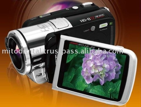HD-8TZ Full HD 1080p Digital Camcorder With 5X Optical Zoom