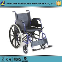 handicapped steel manual wheelchair for disabled quick release rear wheels JL909BQ