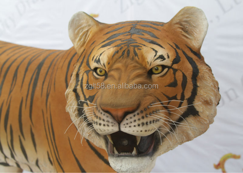 Exhibit Animal animatronic lifesize tiger model