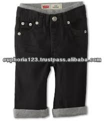 Girls Rib waist Denim pant