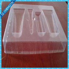Display cosmetic insert packaging plastic cosmetic box