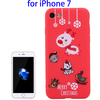 Christmas Design Cartoon Soft Protective TPU Case for iPhone 7 Mobile Cover