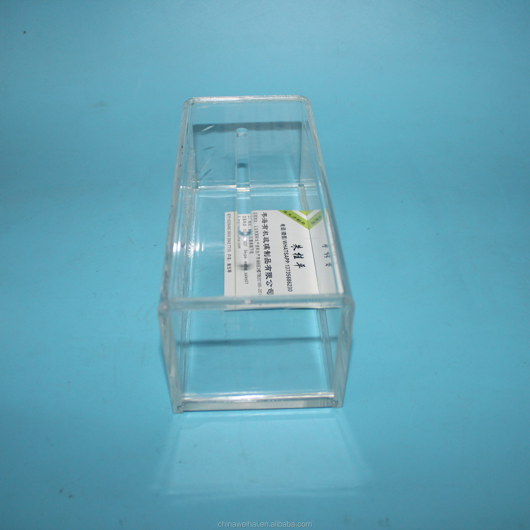 Clear Acrylic Name Card Box