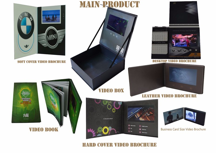 Factory price 2 years warranty 8 years experience making 2.4inch, 4.3 inch, 5 inch , 7 inch  lcd video gift box