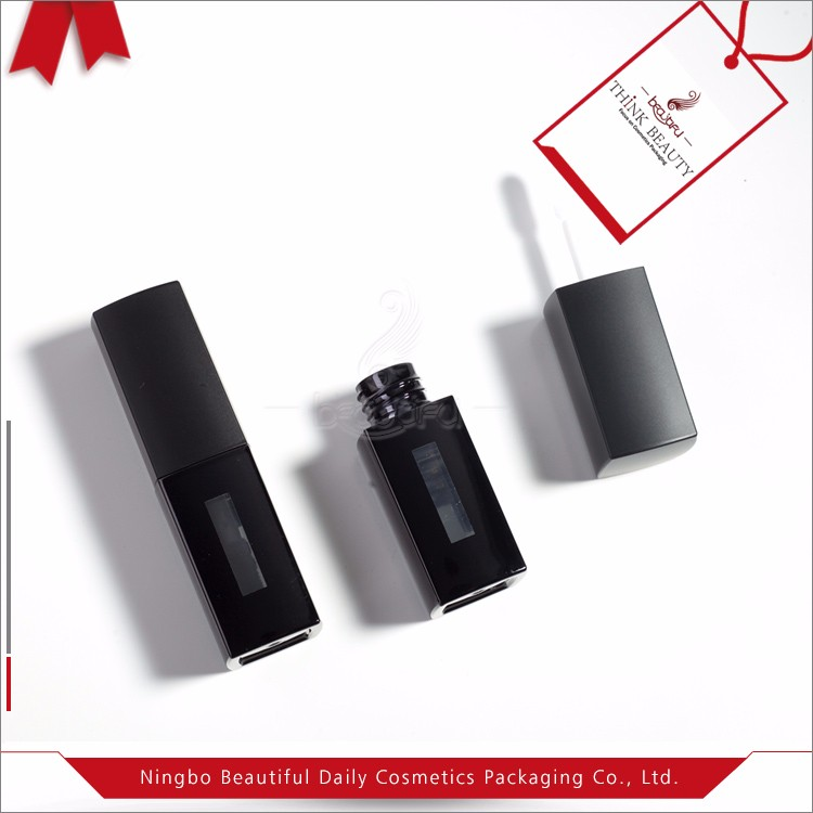 Wholesale cheap matte black 4.2 ml Lip gloss bottle/tube/container cosmetic packaging bottle