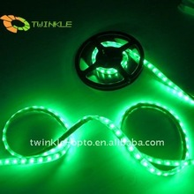 2 year warranty manufacturer 10mm 60led/m Epistar 12V/24v green casing pipe waterproof flexible led strip