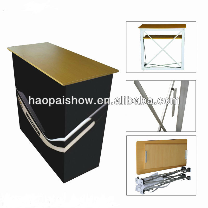 portable pop up podium counter table stand,
