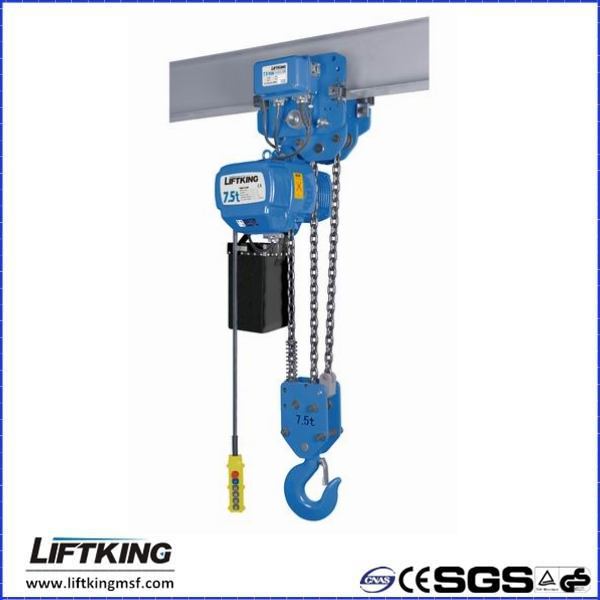 7.5ton remote controlled electric chain hoist
