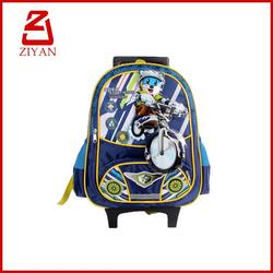2016 profession manufacture cute pretty school trolley bags
