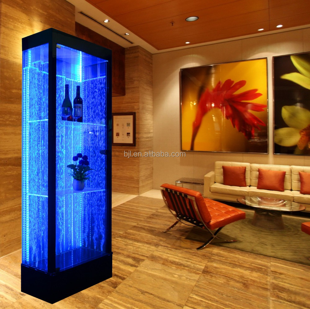 glowing bar display cabinet decorative water bubble S shaped bar showroom display shelf