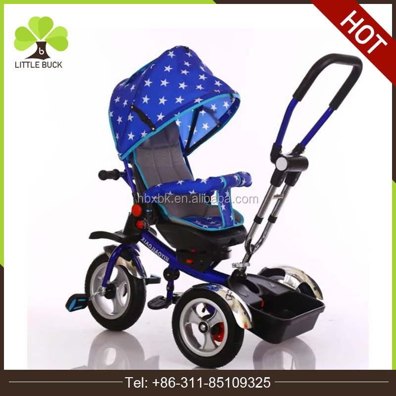 2017 Hot Selling childrens trikes with rubber wheels/ 360 degree rotation baby tricycles/ tricycle for elderly