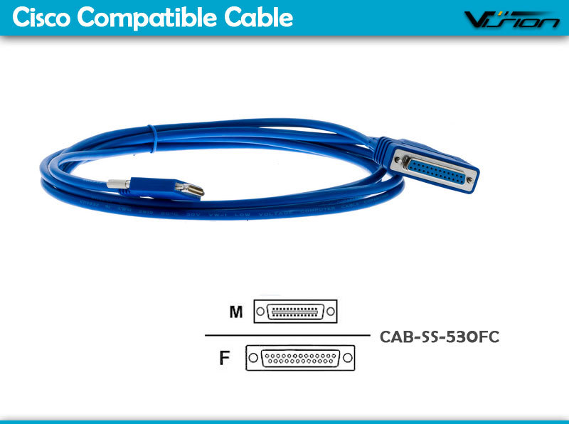 10FT CAB-SS-530FC Cisc0 Smart Serial to DB25 female RS530 DCE Cable