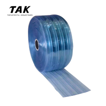 Bulk Roll Soft Transparent Clear Freezer Cold Storage Easy Passing Smooth Cleaning PVC Strip Curtain
