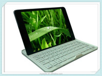 Aluminium Wireless Keyboard Folio Bluetooth v3.0 Rotating Stand Case for Apple iPad Mini
