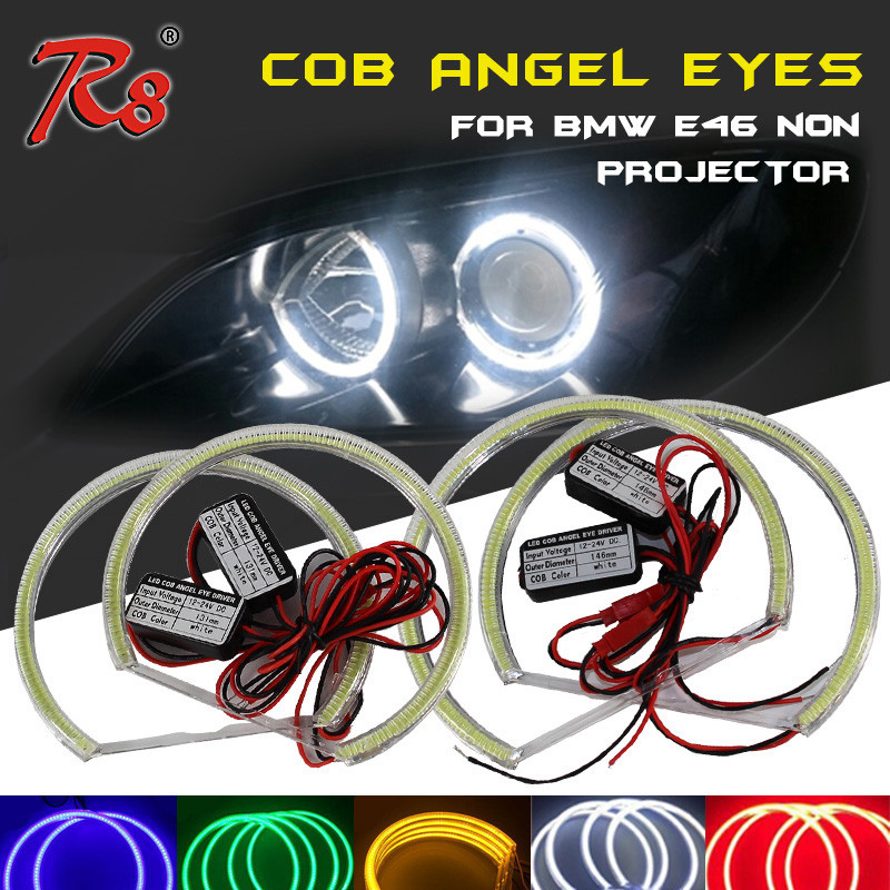 LED Angel Eyes Ring For BMW E46 Angel Eyes LED For BMW E46 131MM 146MM LED Angel Eyes