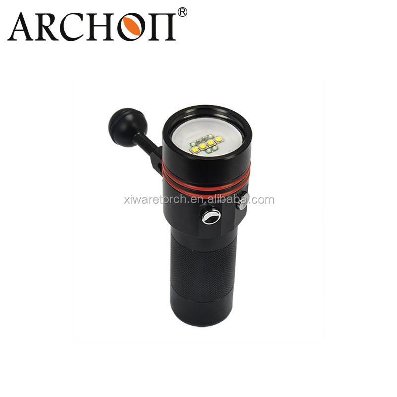 Archon W40V <strong>Diving</strong> Underwater Red UV Video Flashlight 2600lm Free shipping