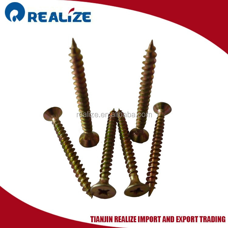 Factory screw fastener C1022 signle thread countersunk head chipboard screw
