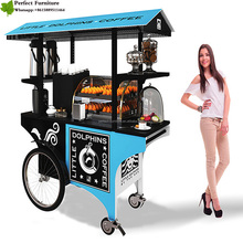 New cafe cart /fashion food bike/mobile coffee cart for sale