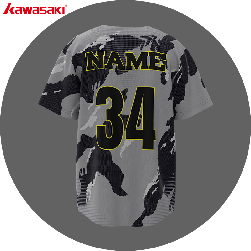 Sublimation usa team design your own camouflage baseball uniform jersey for men
