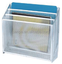 High Quality Metal Mesh Office Stationery Desk Organizer 3 Compartment Hanging Document Holder