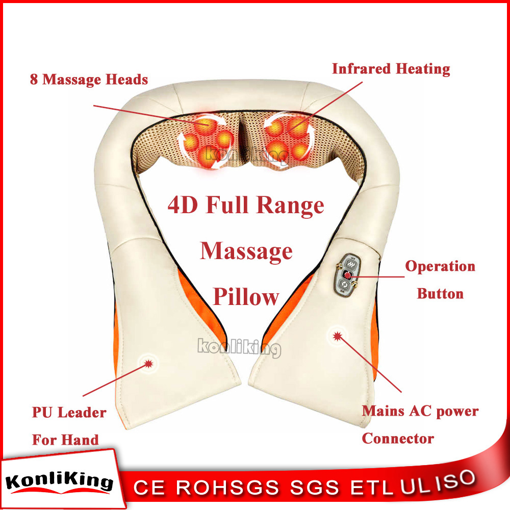Fashionable design 2017 neck pain relief heating electric neck and shoulder massage machine with lowest price