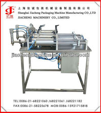 Semi automatic simple linear liquid bottle filling machine