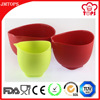 BPA Free Non-toxic Silicone Mixing Bowl Set/ 3-Piece Silicon Mixing Bowl Set/Unbreakable Silicone Material Mixing Bowl
