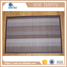 New Style Double Striped Natural Bamboo Entrance Mat For Bar / Door / Floor / Bath