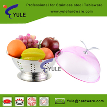 Favorites stainless steel serving tray stand with cover collect fruit /vegetable/snacks