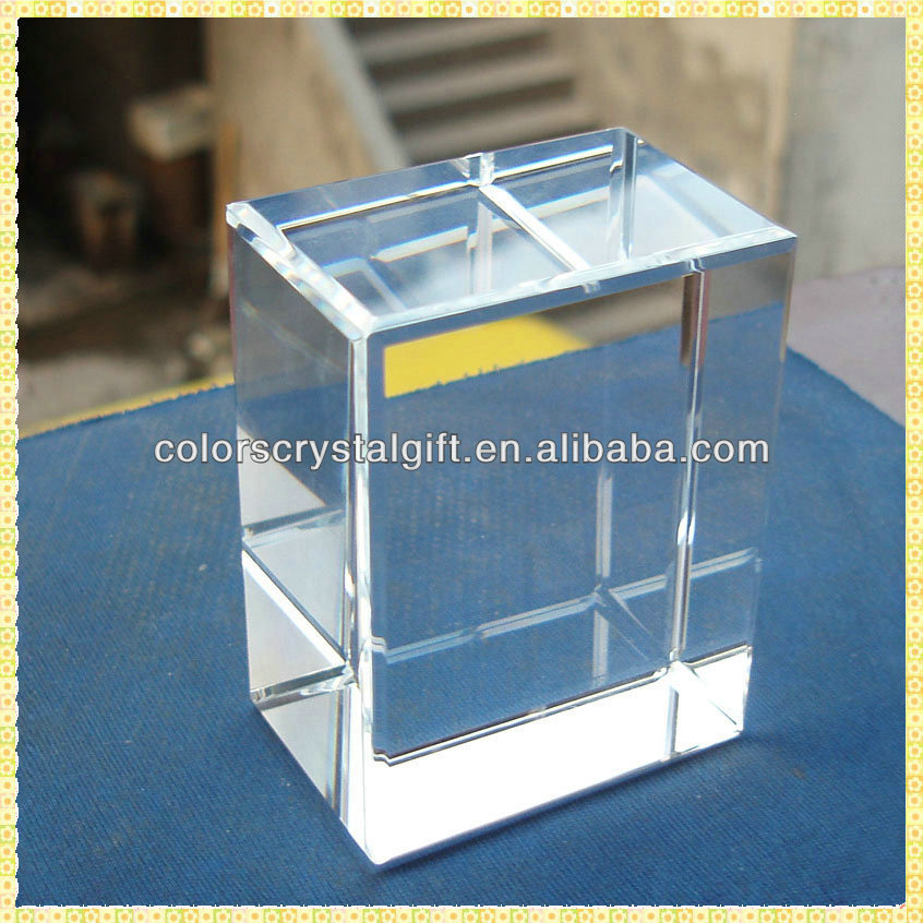 Wholesale Bulk Factory Blank Crystal Cube For 3D Laser Engraving