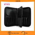 Best quality black PU 29 holes cosmetic bag with zipper