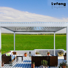 Outdoor living spaces aluminum garden arch motorized louvered roof system