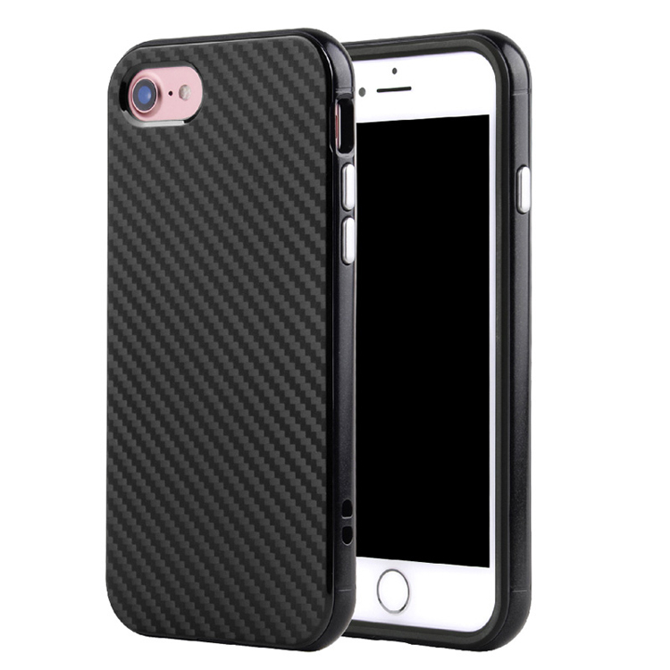 Carbon Fiber Hybrid TPU+PC Bumper Phone case for iphone 6s mobile covers and accessories
