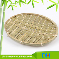 Eco-friendlly round natural bamboo fruit bowl