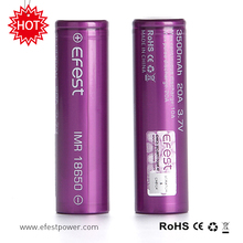 FCC UL CE ROHS Approved Battery Efest IMR 3500mah 3.7v 18650 Battery
