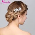 Wedding Engagement Hair Accessory Glinting Rhinestone Leaf Bridal Bridesmaid Hair Pin Dish Hairpin Prom Dress Prop Bobby pin
