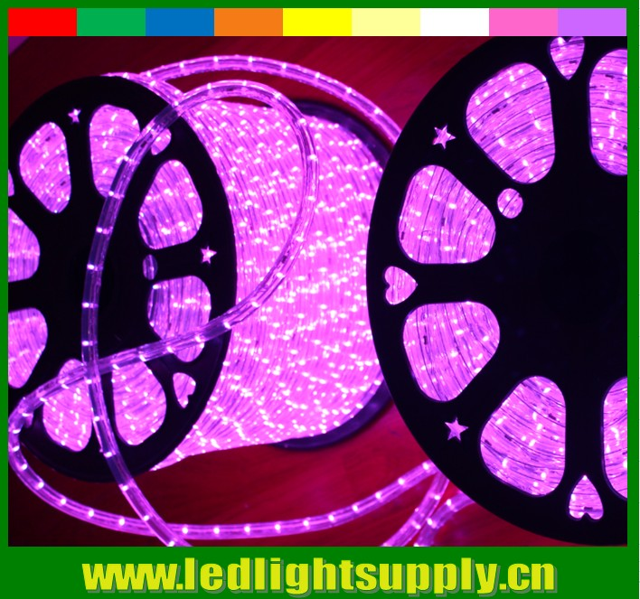 "300 feet roll 1/2"" 24v round pink cheap led rope lights factory"