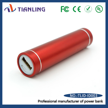 Professional manufacturer power bank lipstick portable red