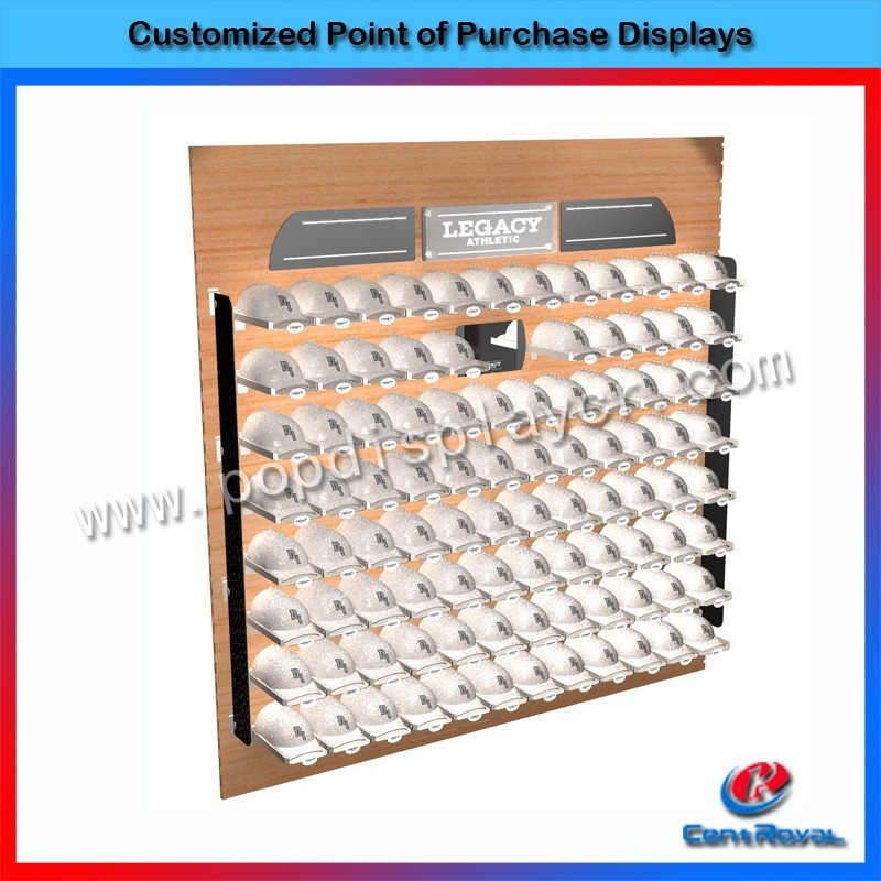 New products wall mounted wooden hat display racks