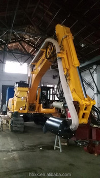 Excavator mounted drill rig drilling rig